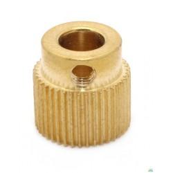 3 D 打印机配件DIY 挤出机专用齿轮 送丝料轮 40齿 铜 drive gear