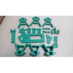 Kossel Mini PLA Printed Parts